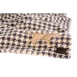 View Image 1 of Tall Tails Houndstooth Fleece Dog Blanket with Dog Applique