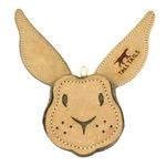 View Image 1 of Tall Tails Natural Leather Dog Toy - Rabbit