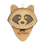 View Image 1 of Tall Tails Natural Leather Dog Toy - Raccoon