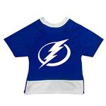 View Image 1 of Tampa Bay Lightning Mesh Dog Jersey - Blue with White Trim