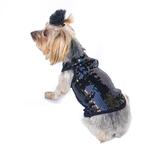 View Image 1 of On the Rocks Sequin Dog Tank - Black