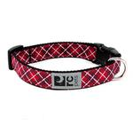 View Image 1 of Tartan Adjustable Clip Dog Collar by RC Pet - Red