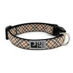 View Image 1 of Tartan Adjustable Clip Dog Collar by RC Pet - Tan