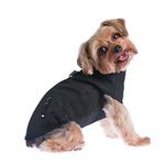 View Image 2 of Techie Water-Resistant Harness Dog Coat - Black