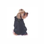 View Image 3 of Techie Water-Resistant Harness Dog Coat - Black