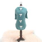 View Image 1 of Dainty Bow Dog Sweater Tee by Hello Doggie - Teal