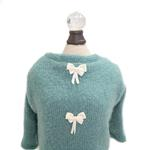 View Image 2 of Dainty Bow Dog Sweater Tee by Hello Doggie - Teal
