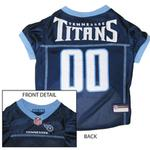 View Image 1 of Tennessee Titans Officially Licensed Dog Jersey - Light Blue Trim
