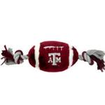 View Image 1 of Texas A&M Plush Football Dog Toy