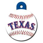 View Image 1 of Texas Rangers Engravable Pet I.D. Tag