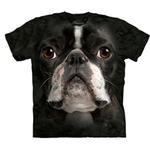 View Image 1 of The Mountain Human T-Shirt - Boston Terrier Face