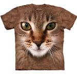 View Image 1 of The Mountain Human T-Shirt - Striped Cat Face