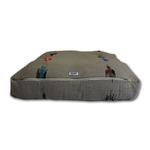 View Image 1 of Thunderbird Rectangulo Dog Bed by Salvage Maria - Grey