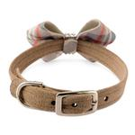 View Image 2 of Scotty Nouveau Bow Luxury Dog Collar by Susan Lanci - Doe Plaid