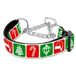View Image 1 of Timeless Christmas Nylon Martingale Dog Collar
