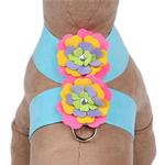 View Image 1 of Tinkie Dog Harness Fantasy Flower by Susan Lanci - Tiffi Blue
