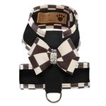 View Image 1 of Tinkie Dog Harness with Windsor Nouveau Bow & Trim by Susan Lanci - Black