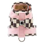 View Image 1 of Tinkie Dog Harness with Windsor Big Bow & Trim by Susan Lanci - Puppy Pink