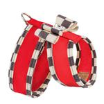 View Image 2 of Tinkie Dog Harness with Windsor Big Bow & Trim by Susan Lanci - Red