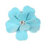 View Image 1 of Tinkie's Garden Flower Dog Hair Bow by Susan Lanci - Tiffi Blue