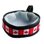 View Image 1 of Trail Buddy Portable Dog Bowl by Cycle Dog - Canada Maple Leaf