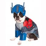 View Image 1 of Transformers Deluxe Optimus Prime Halloween Dog Costume