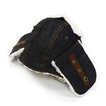 View Image 3 of Trapper Dog Hat by Dogo - Black Denim