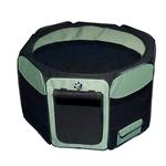 View Image 1 of Travel Lite Soft-Sided Pet Pen - Sage