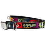 View Image 1 of Monsters Metal Latch Dog Collar by Cycle Dog