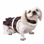 View Image 1 of Trinity Dog Harness Dress by Pinkaholic - Navy