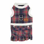 View Image 3 of Trinity Dog Harness Dress by Pinkaholic - Navy