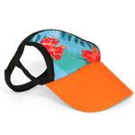 View Image 1 of Tropical Floral Blue Dog Visor by Playa Pup