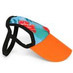 View Image 3 of Tropical Floral Blue Dog Visor by Playa Pup