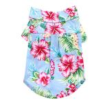 View Image 1 of Tropical Island Dog Shirt by Dogo - Blue