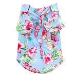 View Image 2 of Tropical Island Dog Shirt by Dogo - Blue
