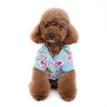 View Image 3 of Tropical Island Dog Shirt by Dogo - Blue