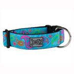 View Image 1 of Tropical Paisley Wide Clip Adjustable Dog Collar