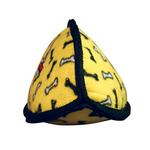 View Image 2 of Tuffy Jr Oddball Dog Toy - Yellow Bones