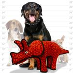 View Image 4 of Tuffy Dog Toys - Triceratops Dinosaur