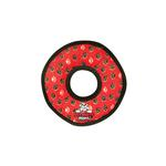 View Image 1 of Tuffy Dog Toys - Ultimate Ring Red Paw Print