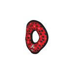 View Image 2 of Tuffy Dog Toys - Ultimate Ring Red Paw Print