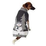 View Image 1 of Tundra's Snowman Dog Sweater - Gray