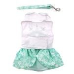 View Image 3 of Turquoise Crystal Dog Dress with Matching Leash by Doggie Design