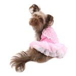 View Image 1 of Tutu Heart Dog Dress by Parisian Pet - Pink