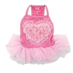 View Image 2 of Tutu Heart Dog Dress by Parisian Pet - Pink