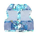 View Image 2 of Ukulele Blue Hibiscus Cool Mesh Dog Harness with Matching Leash by Doggie Design