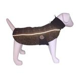 View Image 2 of Ultra Paws Comfort Reflective Dog Coat - Brown Plaid