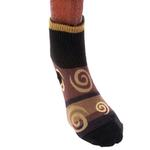 View Image 1 of Ultra Paws Doggie Socks - Oakley Brown/Black