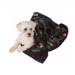 View Image 2 of Ultra Paws My Blankie Waggers Pet Blanket - Blue and Black