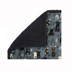 View Image 1 of Ultra Paws My Blankie Waggers Pet Blanket - Blue and Black